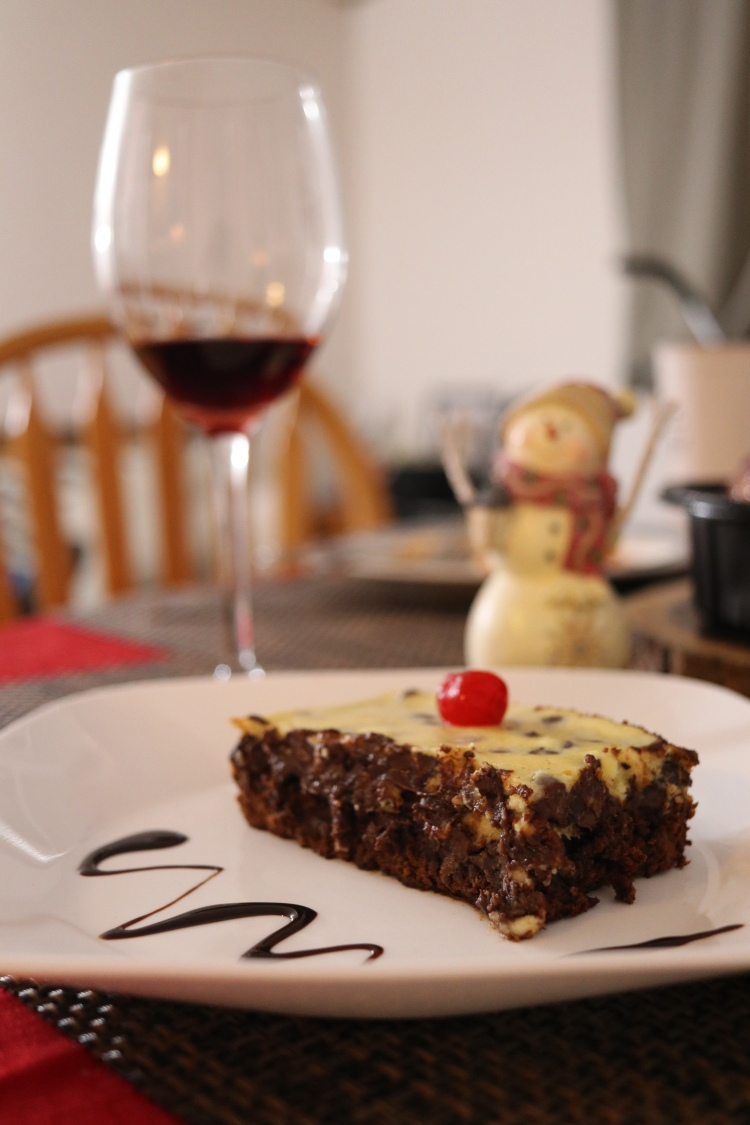 Red Wine & Cheesecake Brownie